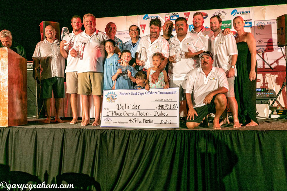 BULL RIDER LASSOES LARGEST MARLIN TO WIN  2016 BISBEE'S EAST CAPE OFFSHORE TOURNAMENT