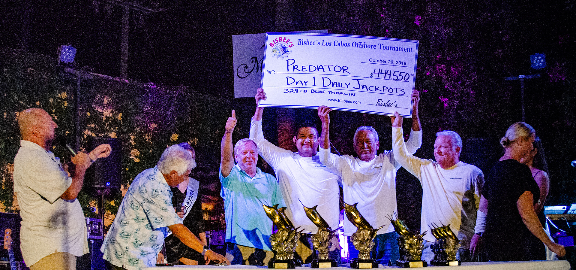 LCO Day One winner receives $444,550 for Day 1 Daily Jackpot for a 328 Blue Marlin